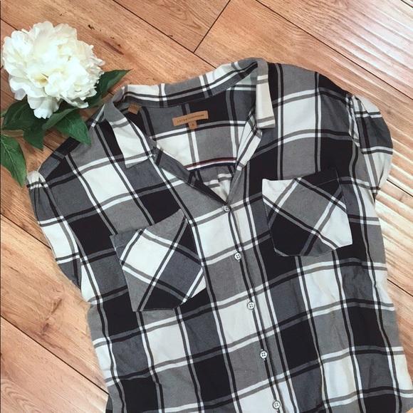 4956f4a94cb2fd Jachs Girlfriend Black &White Short Sleeve Flannel.  M_5ab11fbb5521beae0a531706